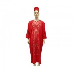 Disfarce de Djellaba de árabe homem em vermelho.